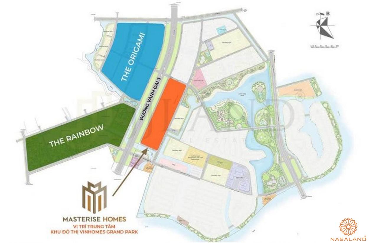 Vị trí dự án căn hộ Masterise Grand Park