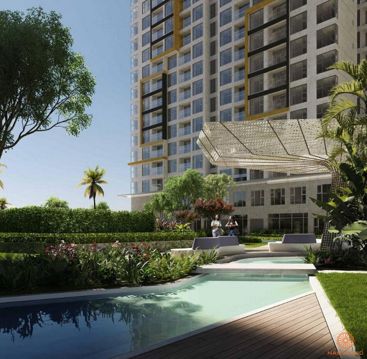 Vườn dạo bộ dự án căn hộ Masterise Grand Park