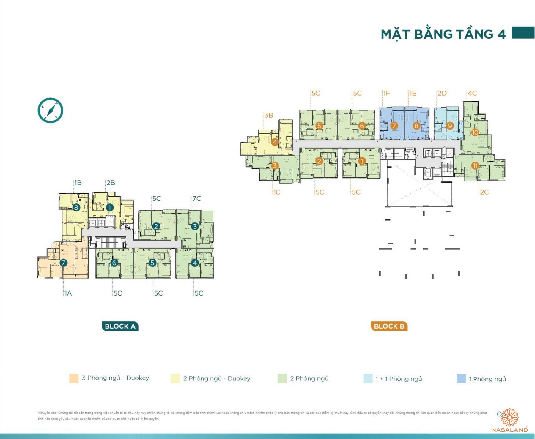 Mặt bằng tầng 4 tiện ích D'lusso Emerald Quận 2