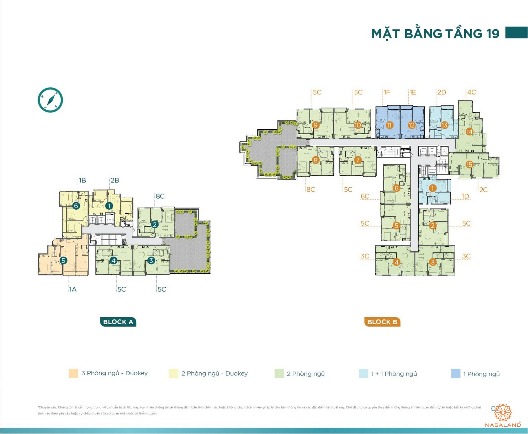 Mặt bằng tầng 19 tiện ích D'lusso Emerald Quận 2