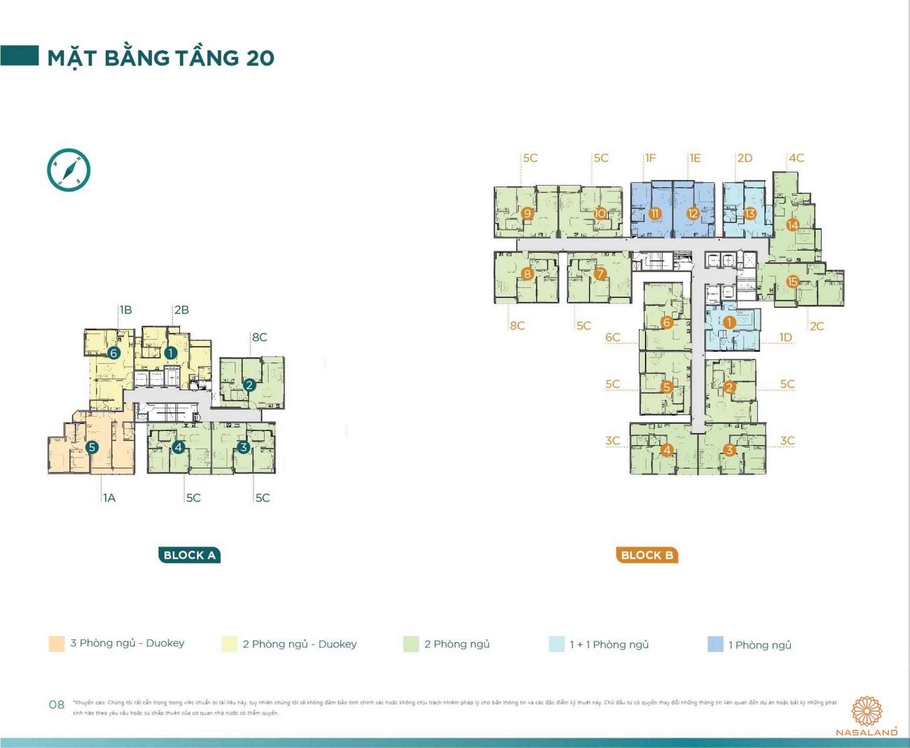 Mặt bằng tầng 20 tiện ích D'lusso Emerald Quận 2