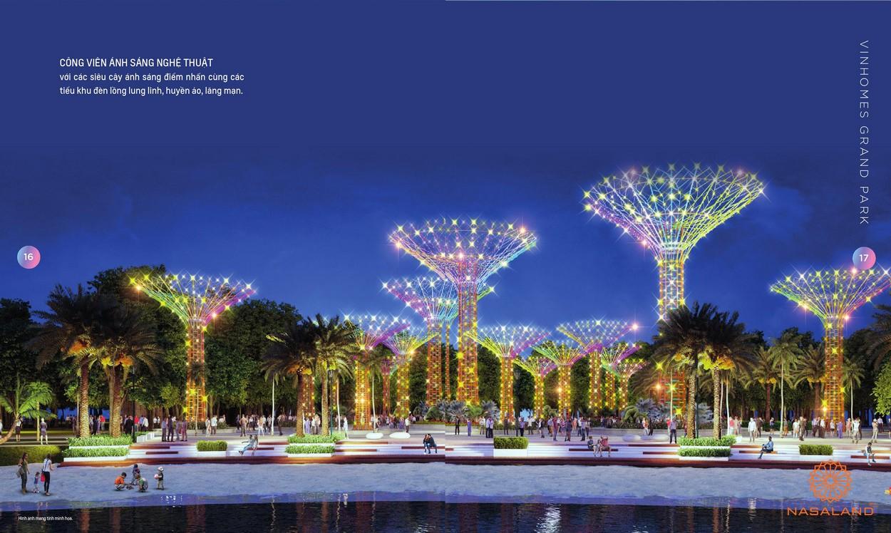 Công viên ánh sáng nghệ thuật tại công viên Grand Forest