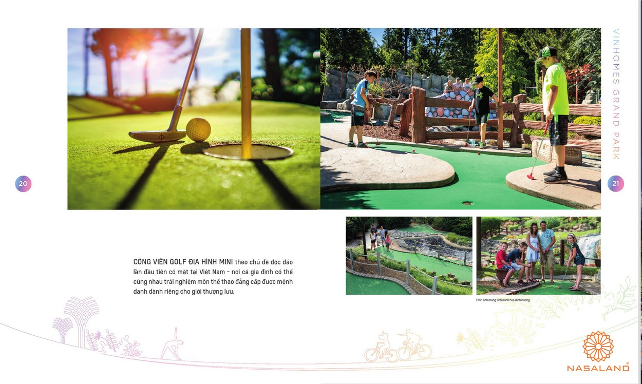 Công viên địa hình Golf tại công viên Grand Forest