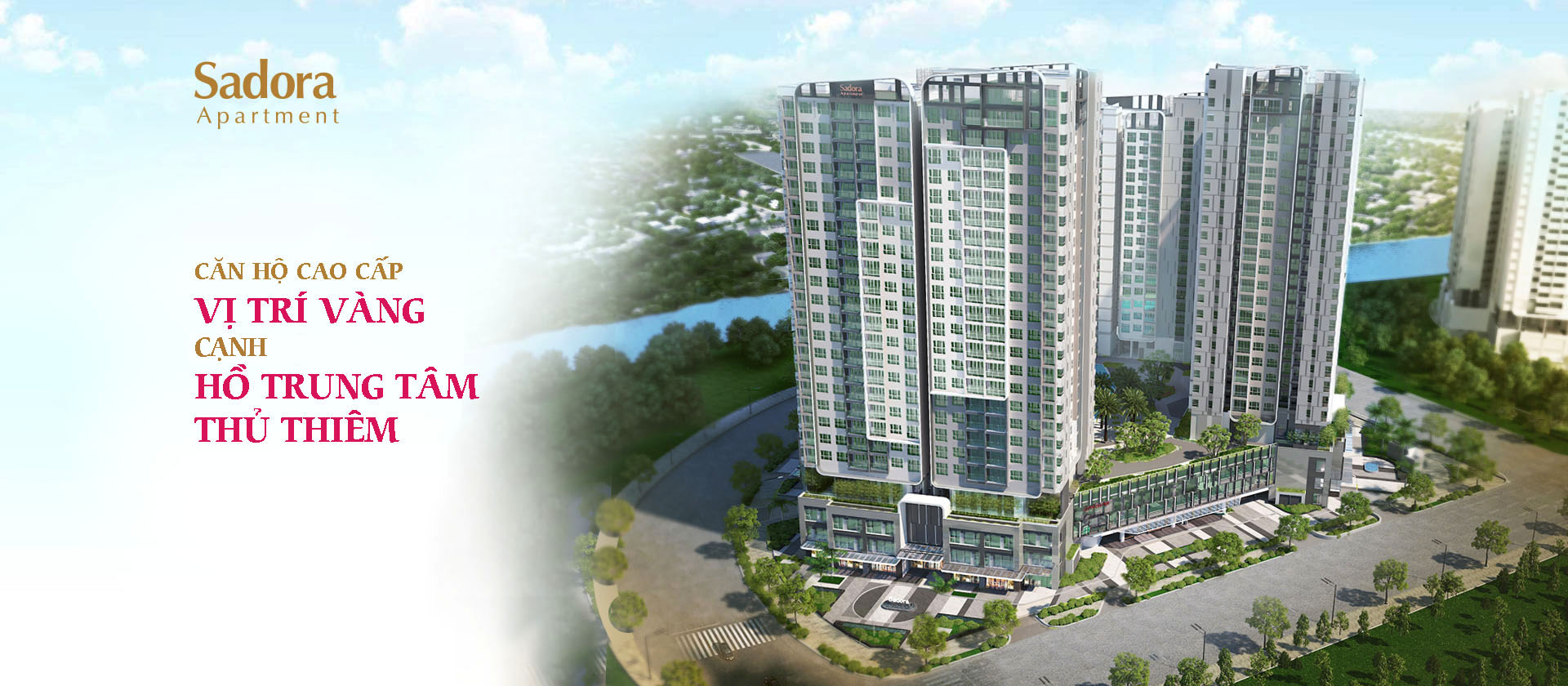 Hình ảnh phối cảnh dự án căn hộ Sadora Apartment Quận 2 chủ đầu tư Đại Quang Minh