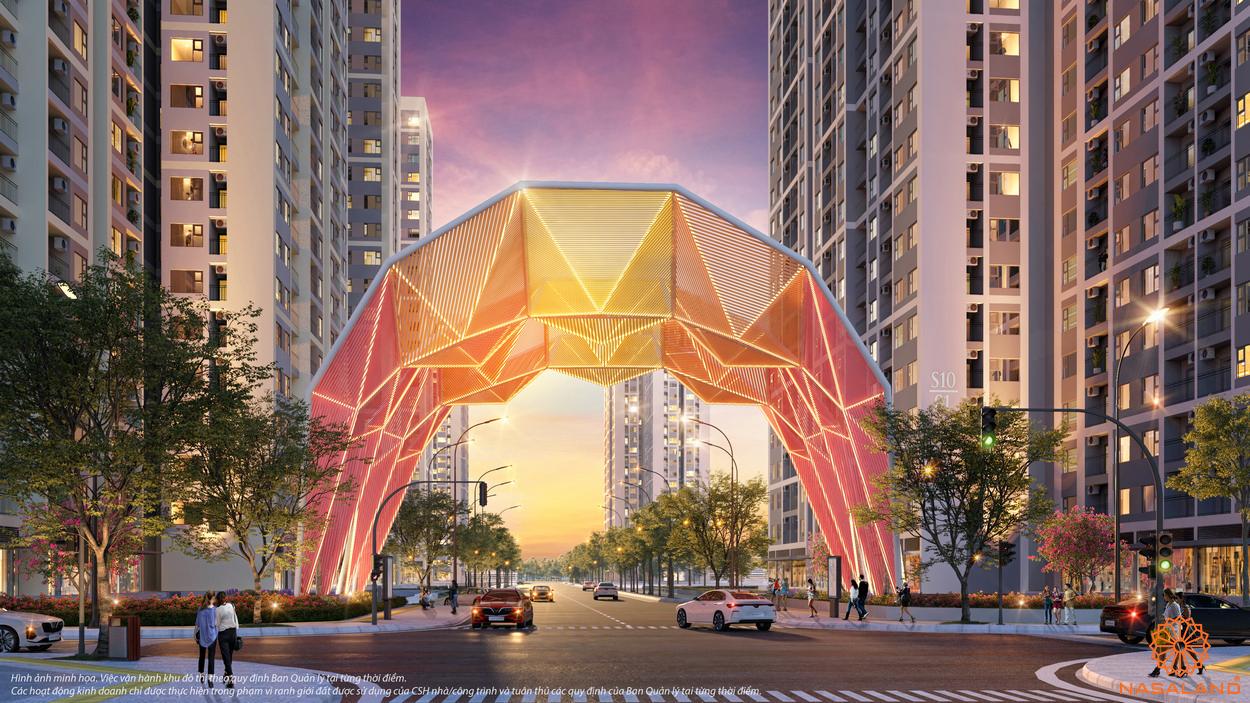 Cổng chào biểu tượng dự án The Origami