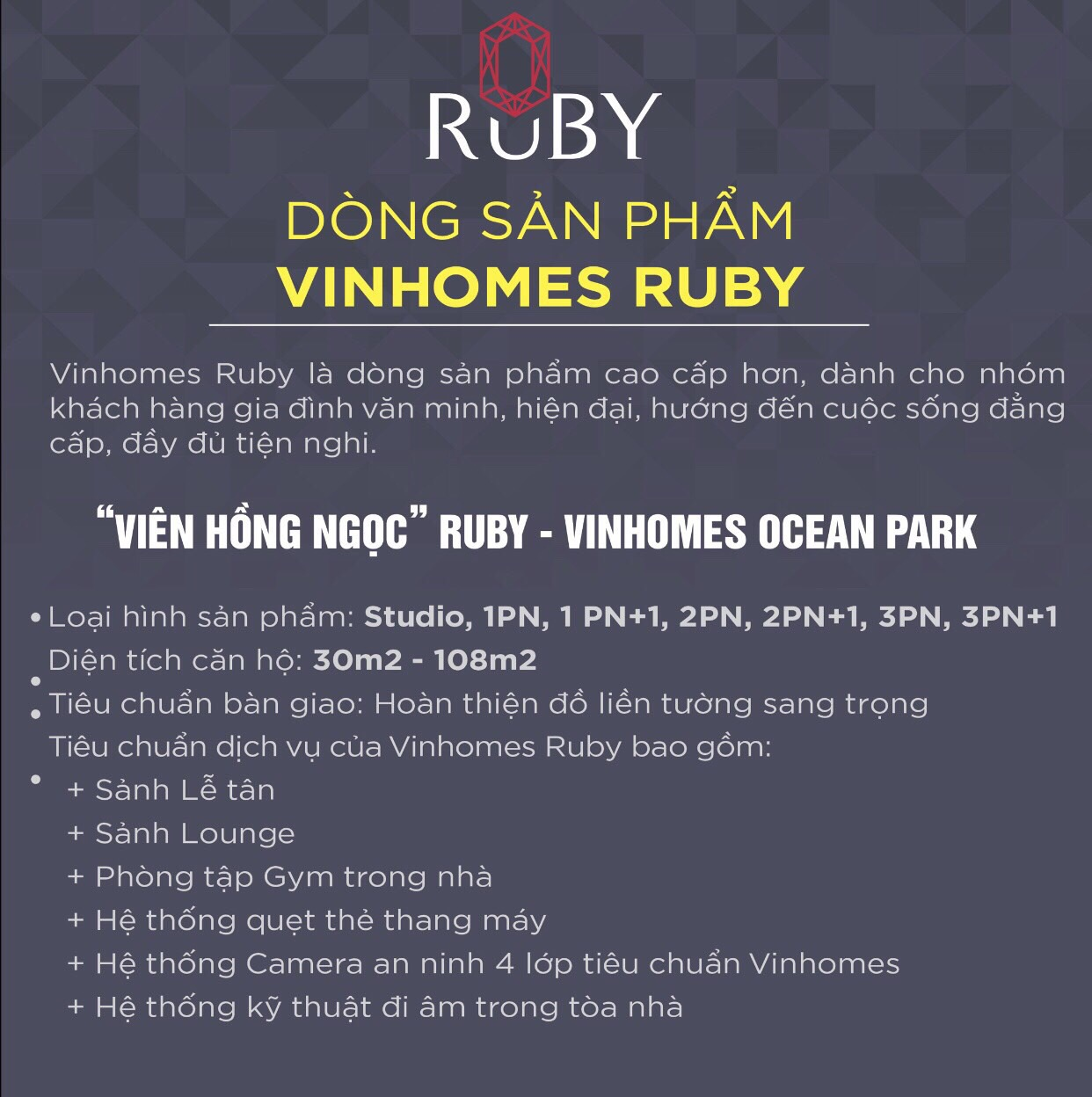 So sanh giữa Vinhomes Ruby và Vinhomes Sapphire