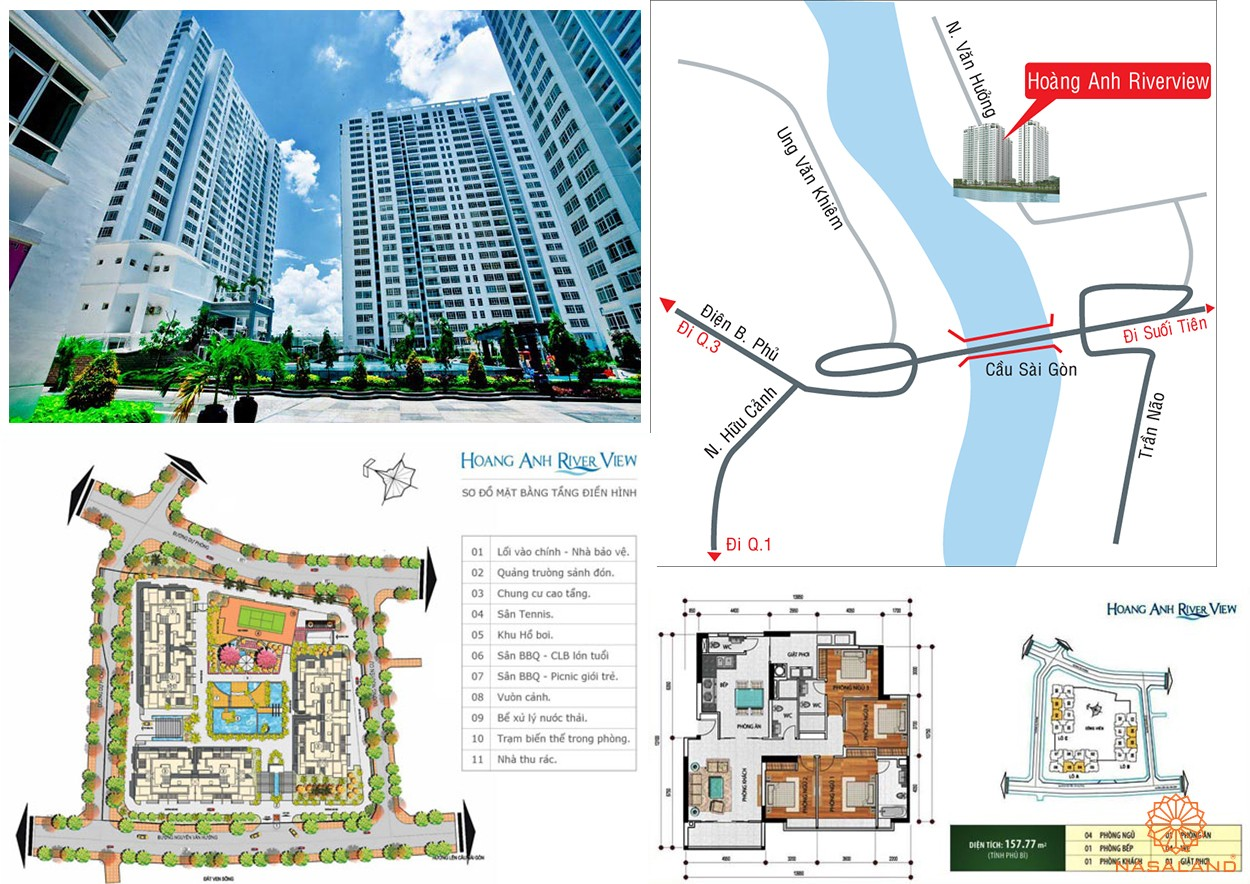 Hình ảnh phối cảnh dự án căn hộ Hoàng Anh Riverview Quận 2 Chủ đầu tư Hoàng Anh Gia Lai