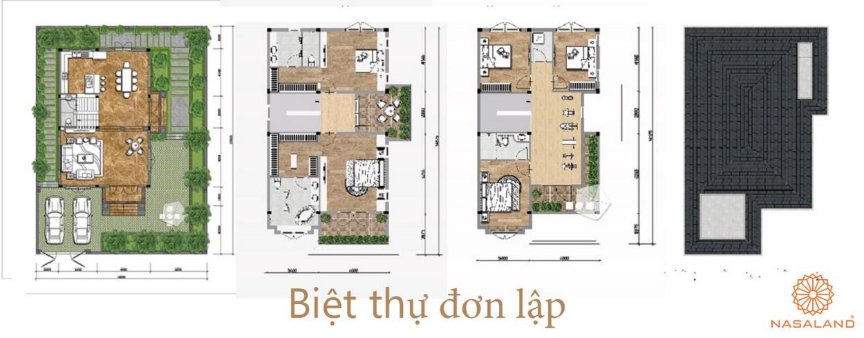 layout biệt thự đơn lập