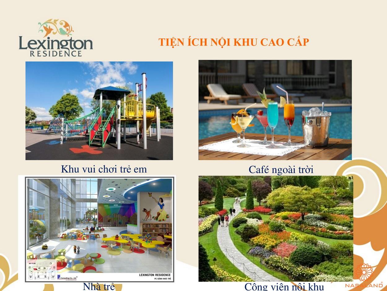 Tiện ích nội khu dự án Lexington Residence