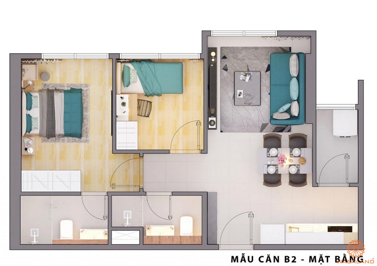 Mặt bằng căn hộ B2 CitiAlto