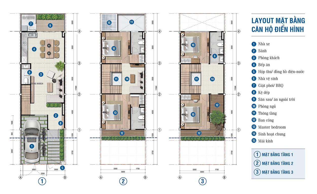 Mặt bằng căn hộ điển hình Citi Bella Quận 2