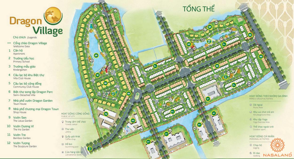 Mặt bằng dự án khu đô thị Dragon Village quận 9