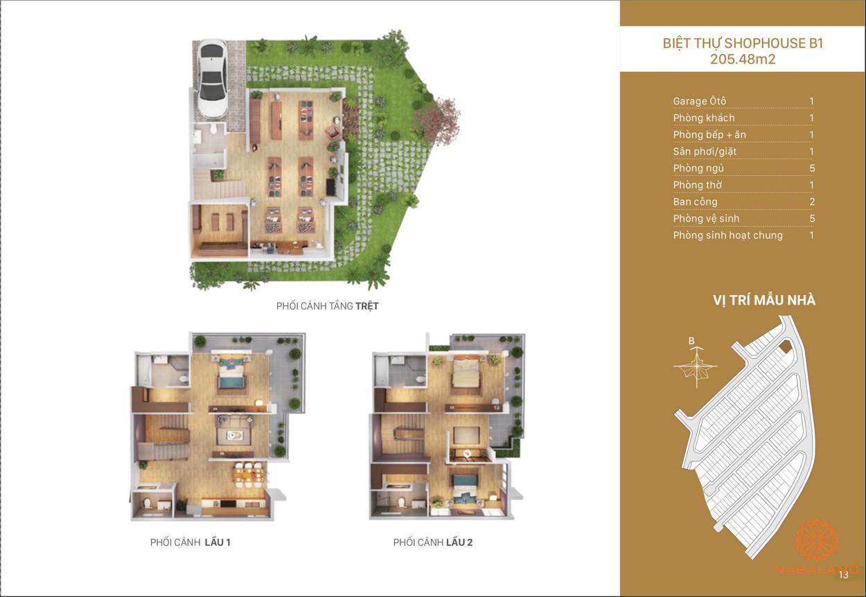 Mặt bằng dự án nhà phố, biệt thự Rio Vista Quận 9