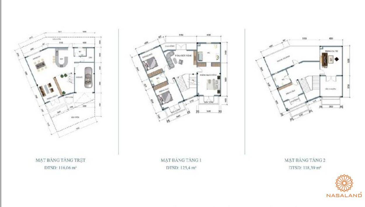 Mặt bằng chi tiết dự án biệt thự nhà phố Hoja Villa Quận 9