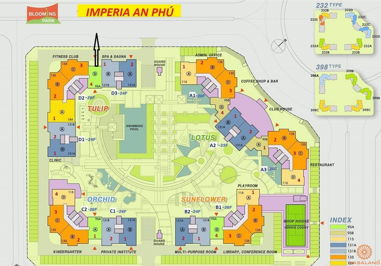 Mặt bằng tổng thể dự án căn hộ Imperia An Phú quận 2
