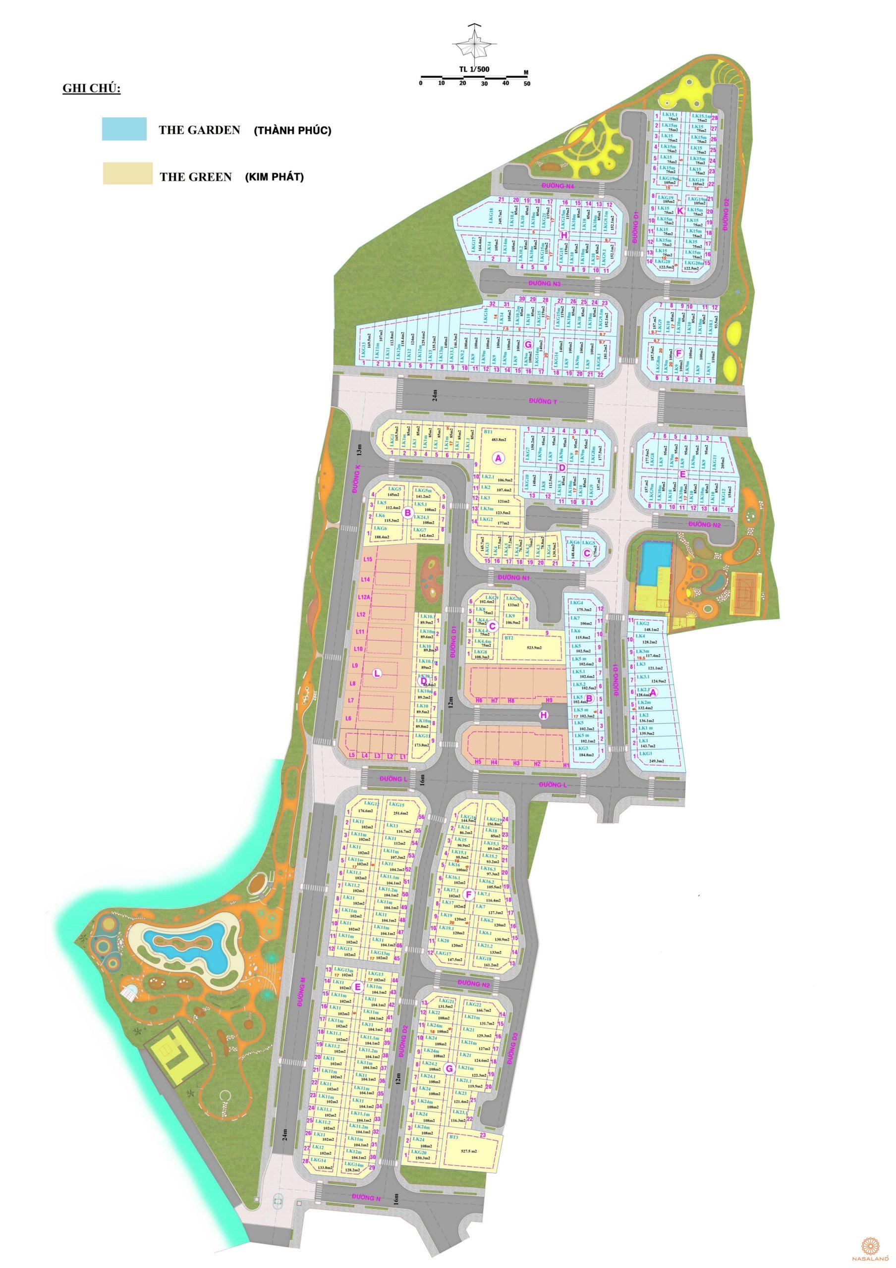 Mặt bằng dự án nhà phố Verosa Park Quận 9 đường Liên Phường chủ đầu tư Khang Điền