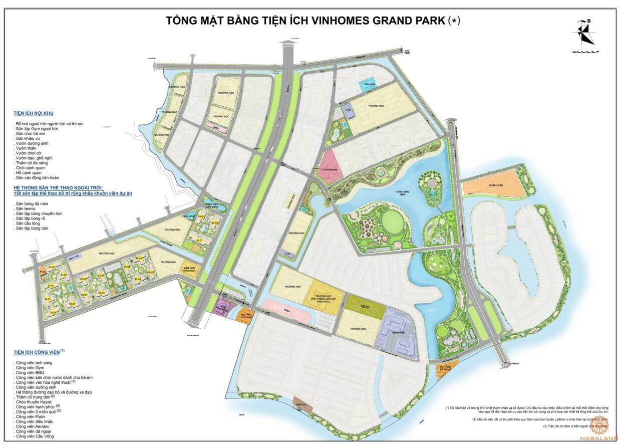 Mặt bằng phân khu căn hộ The Rainbow Vinhomes Grand Park Quận 9