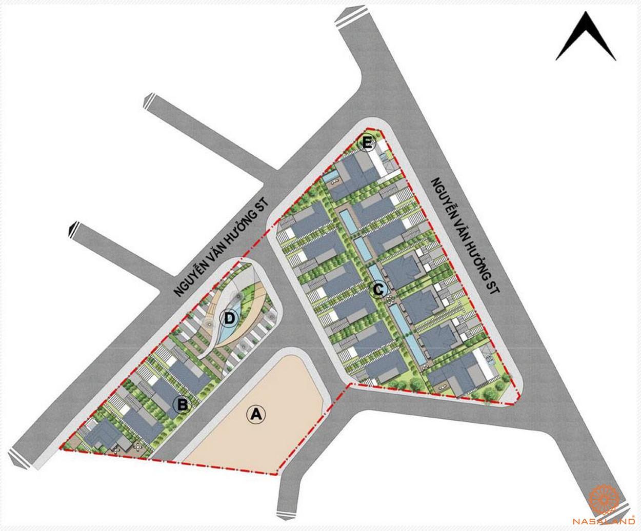 Mặt bằng tổng thể dự án biệt thự King Grown Village Thảo Điền Quận 2 Chủ đầu tư Bamboo Capital