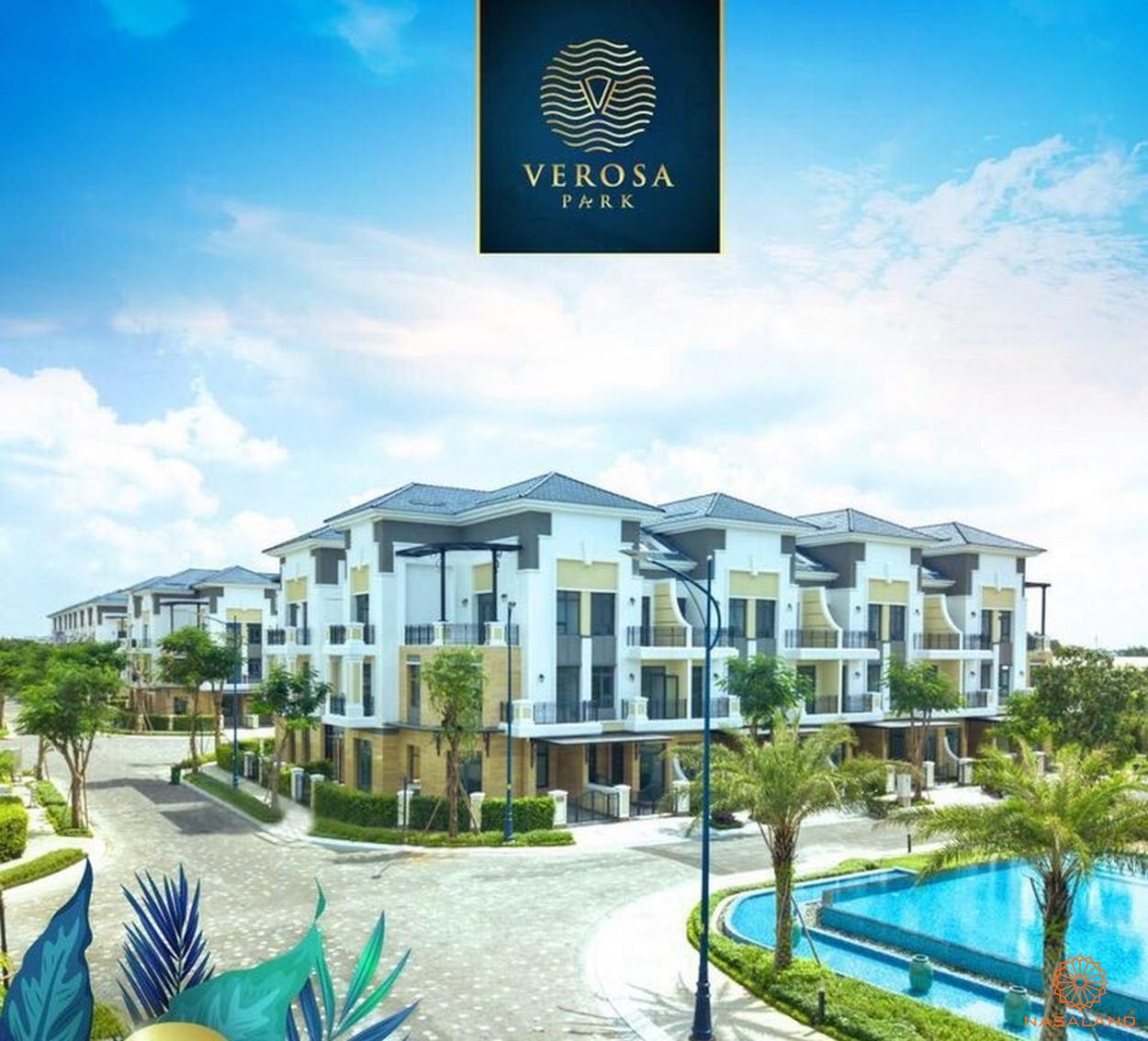 Một góc nhà phố Verosa Park đã hoàn thành