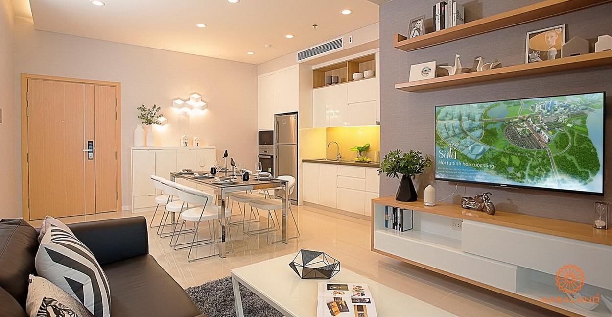Nhà mẫu phòng khách dự án căn hộ