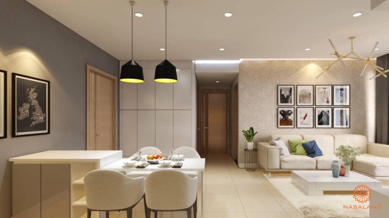 Nhà mẫu bàn ăn cùng phòng khách của dự án