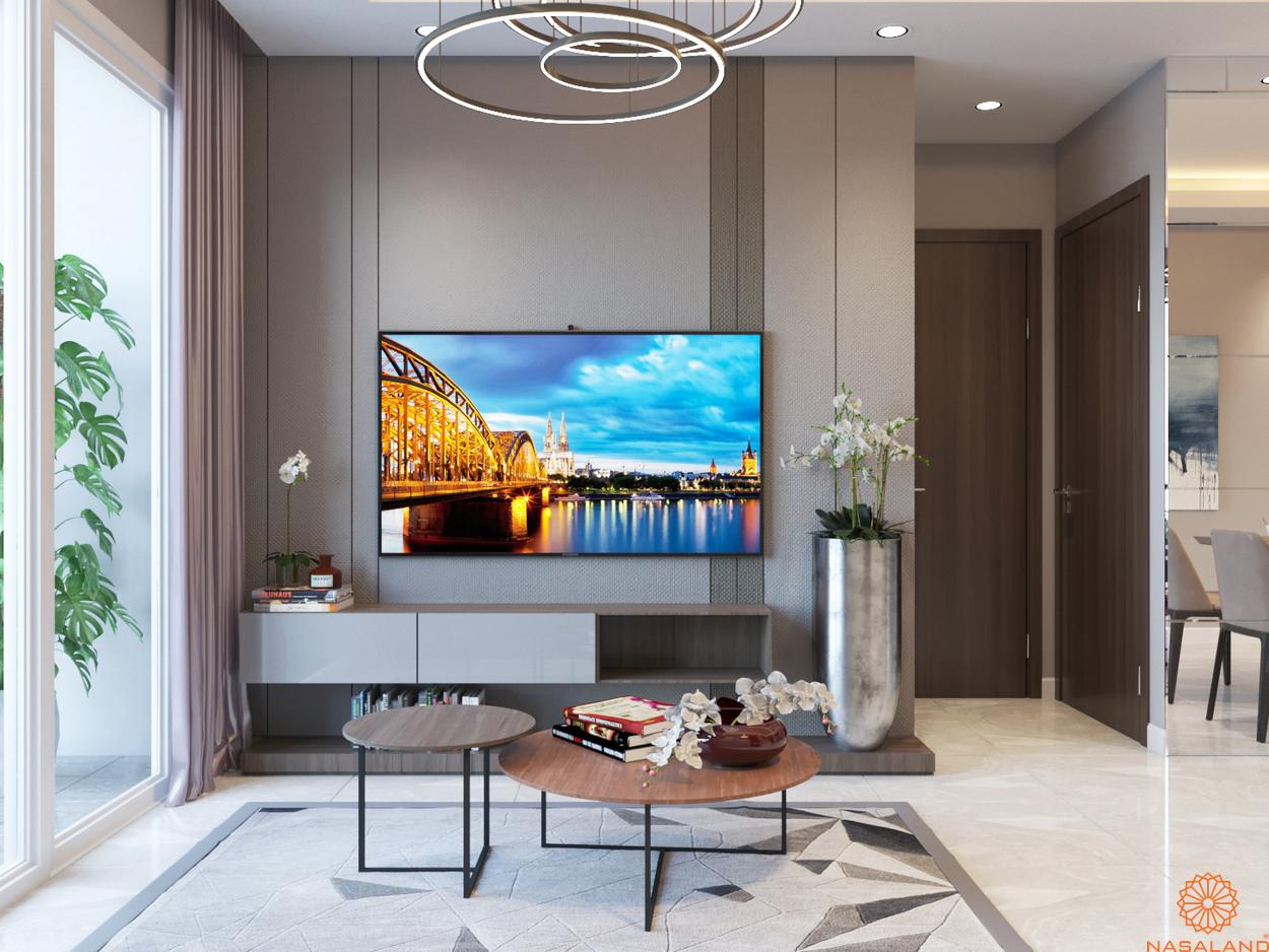 Nhà mẫu căn hộ Him Lam Phú An quận 9 - phòng khách