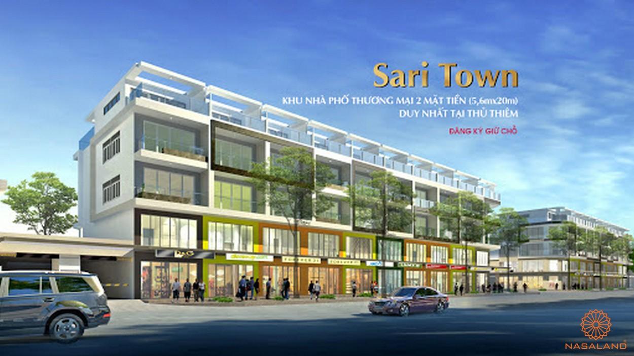Nhà mẫu dự án nhà phố Sari Town quận 2