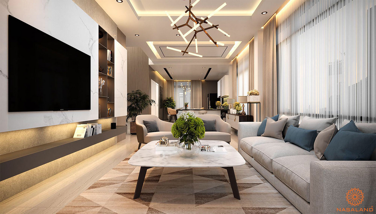 Nhà mẫu dự án nhà phố An Phú New City