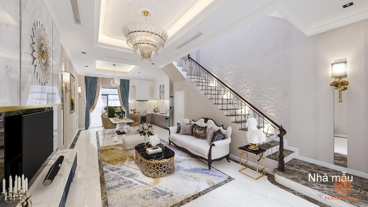 Phòng khách nhà phố Verosa Khang Điền loại thiết kế The Green
