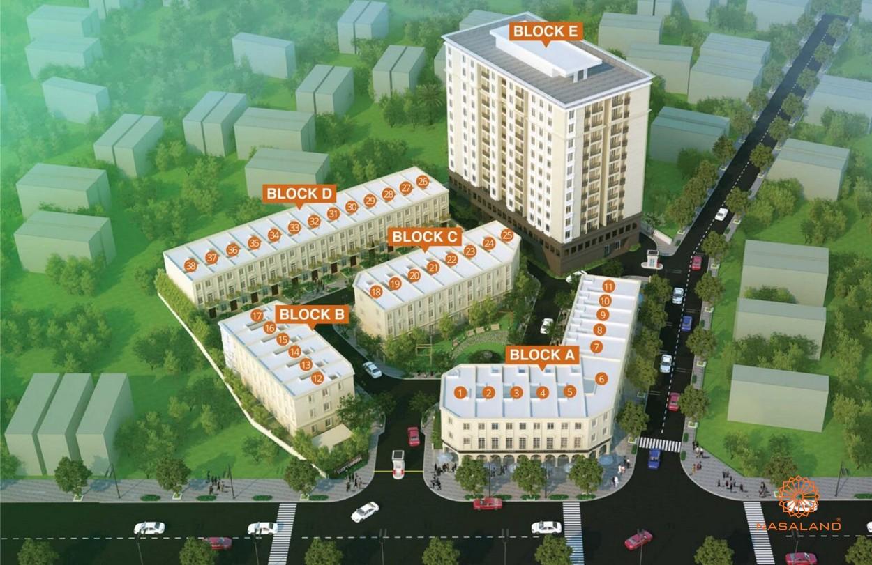 Phối cảnh dự án căn hộ nhà phố Lucky Dragon Quận 9