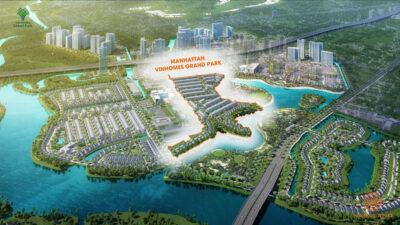 Hình ảnh phối cảnh dự án nhà phố Manhattan Vinhomes Grand Park Quận 9 Chủ đầu tư Vingroup