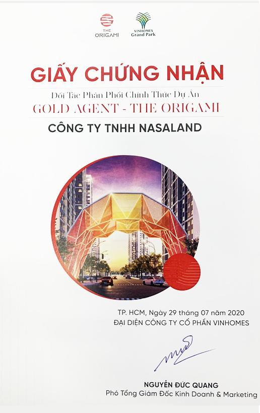 Nasaland - Đại lý đối tác chiến lược của Vinhomes phân khu The Origami