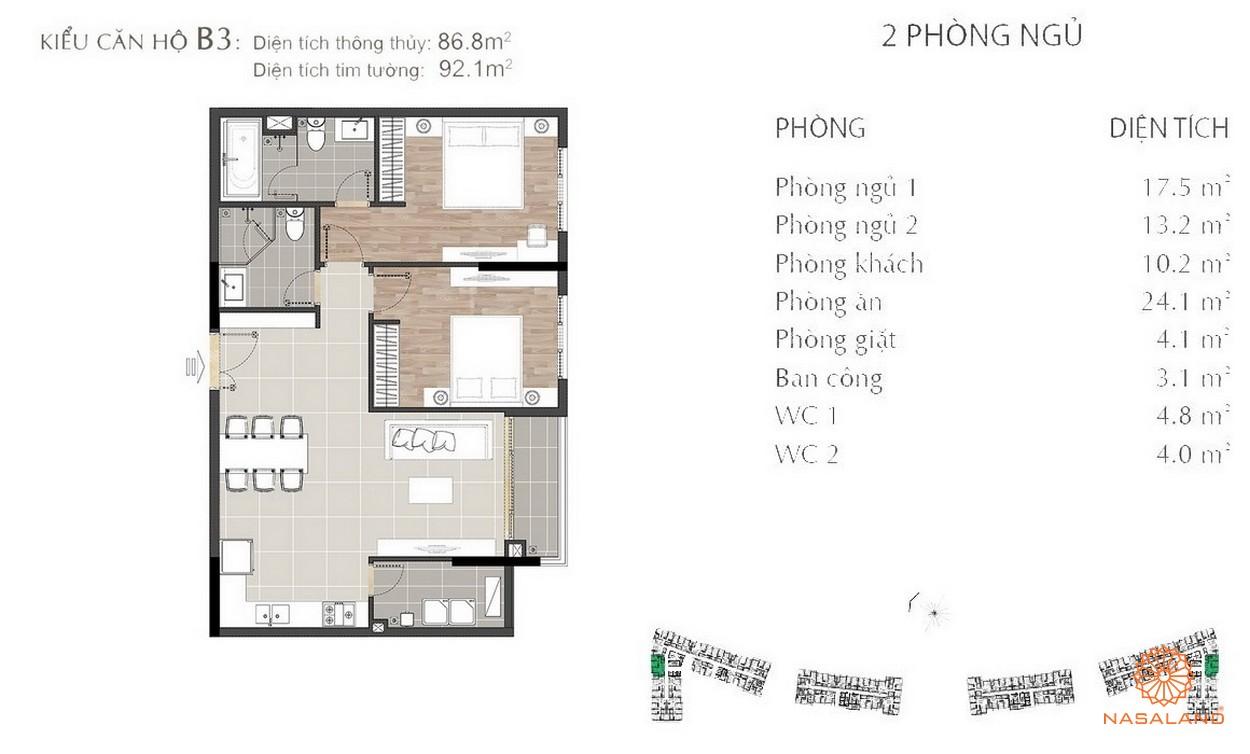 Thiết kế căn hộ Sarimi B3