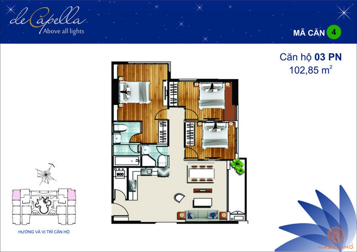 Thiết kế dự án De Capella Quận 2 - Mã 4