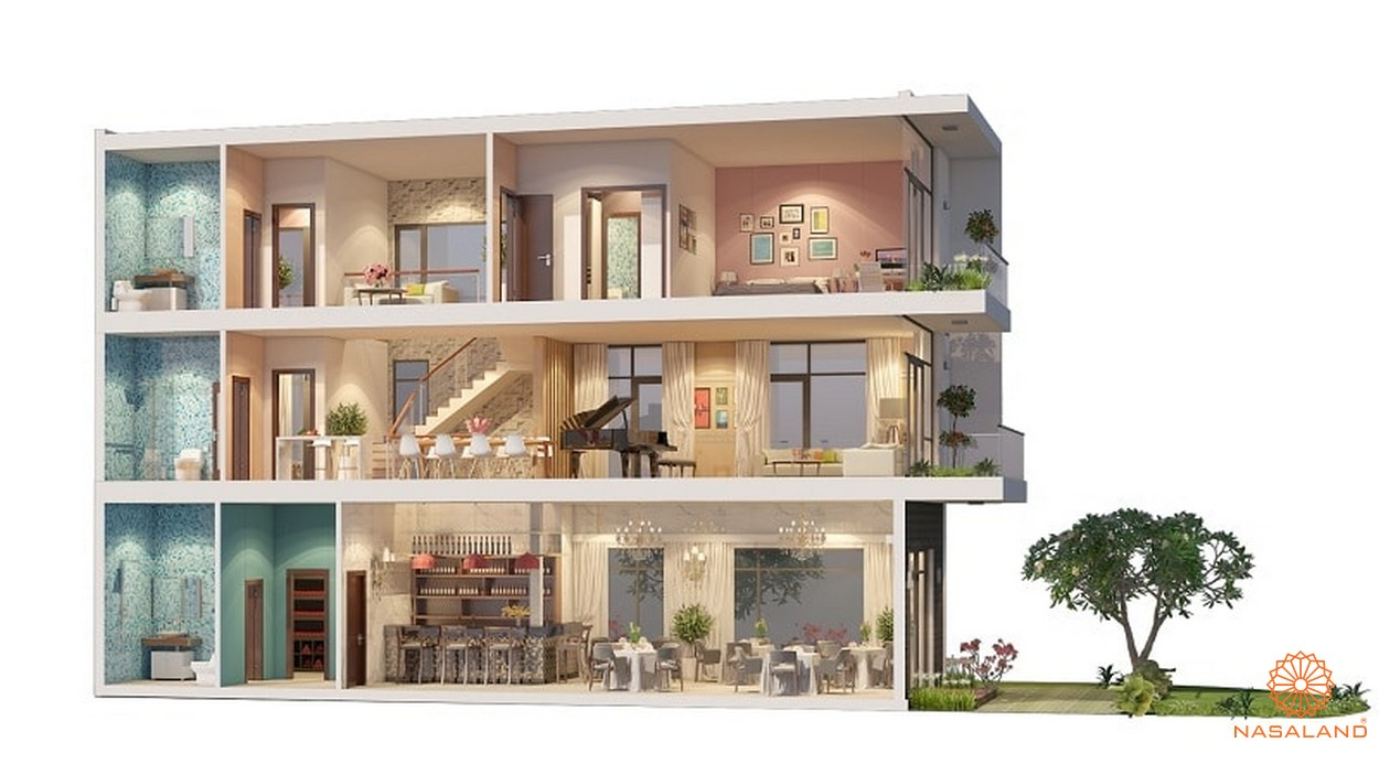 Thiết kế chi tiết tại dự án nhà phố, biệt thự Rio Vista Quận 9