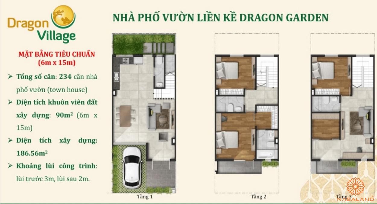 Thiết kế nhà phố Dragon Village - nhà phố vườn liền kề Dragon Garden