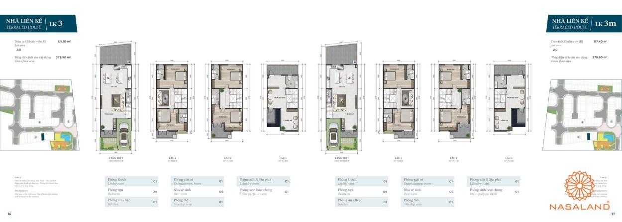 Thiết kế nhà phố Verosa Park phân khu Garden loại LK3 và LK3m