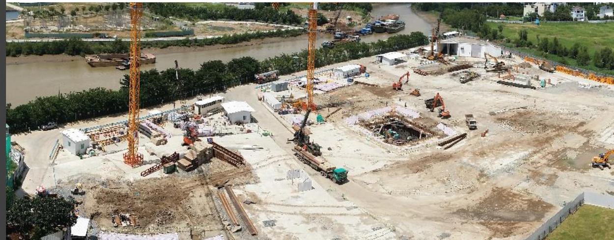 Tiến đô xây dựng tại Diamond Island