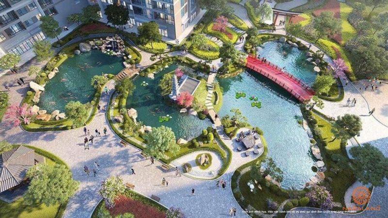 Một góc tiện ích nội khu theo phong cách Nhật tại The Origami dự án Vinhomes Grand Park Quận 9 chủ đầu tư Vingroup