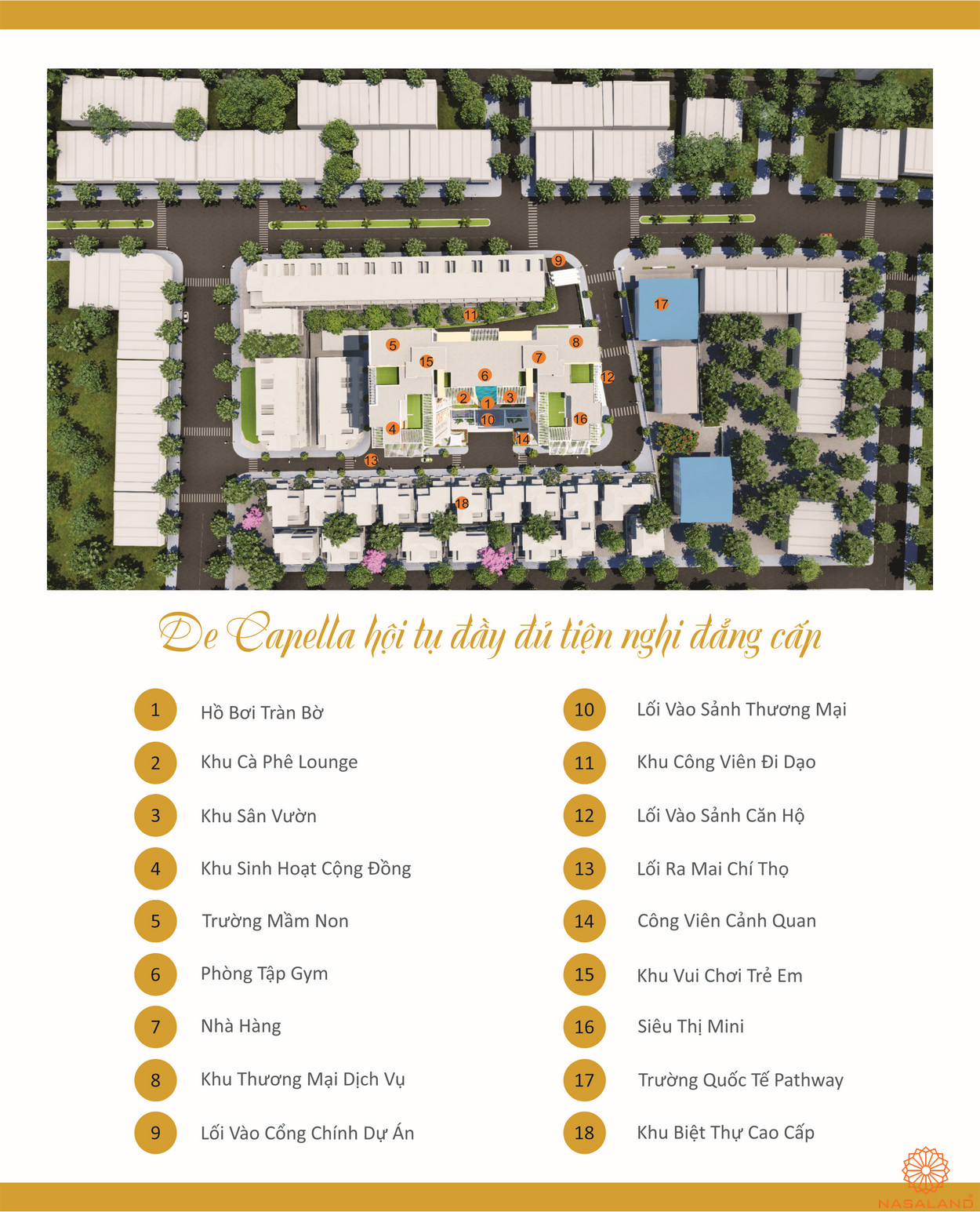 Tiện ích dự án De Capella Quận 2 Chủ đầu tư Quốc Cường Gia Lai Group