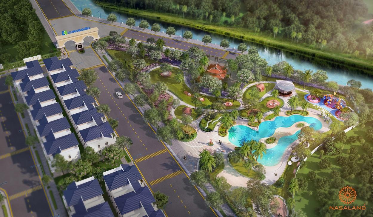 Công viên Symphony nằm tại trung tâm dự án nhà phố Verosa Park Khang Điền Quận 9
