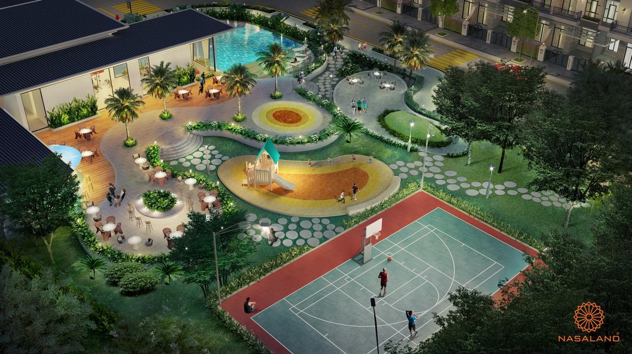 Sân thể thao và các hoạt động khác tại dự án nhà phố Verosa Park Khang Điền Quận 9