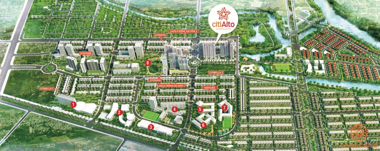 Tiện ích ngoại khu căn hộ CitiAlto