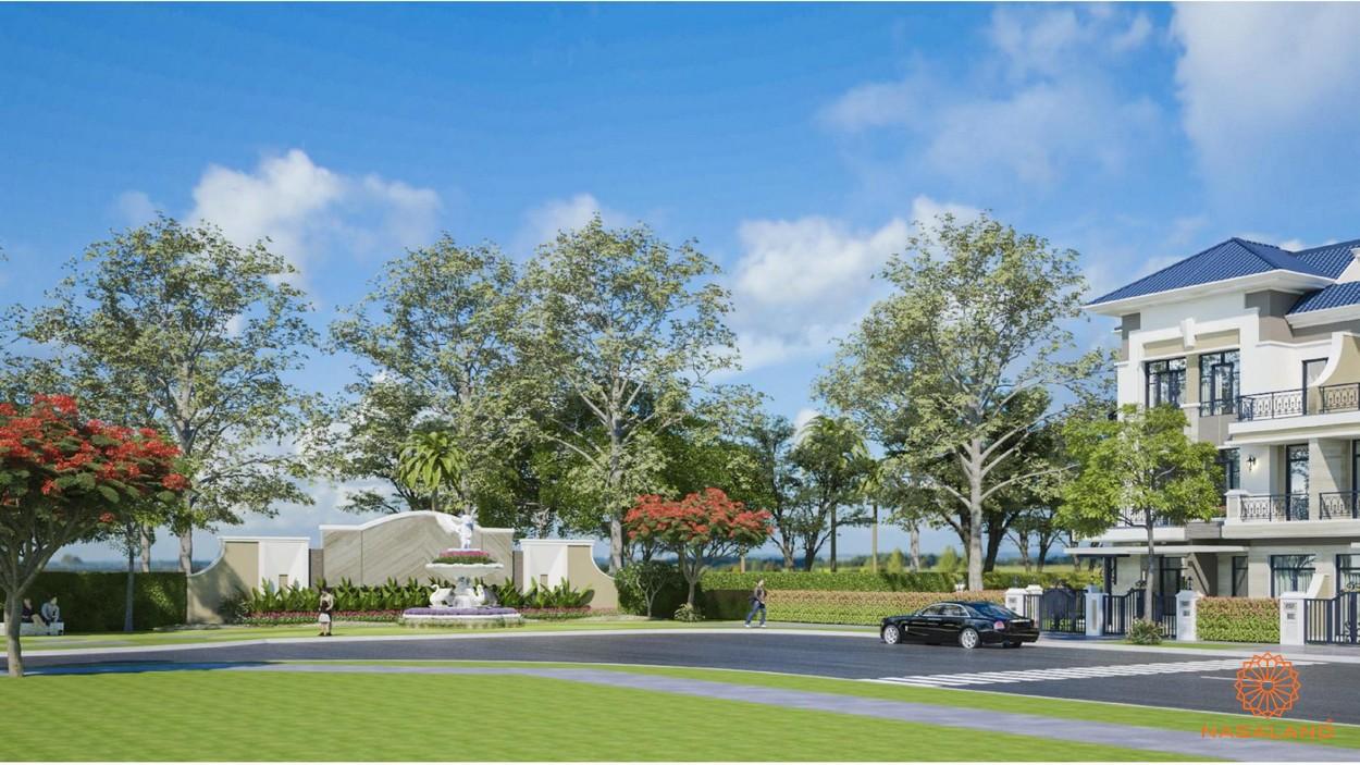 Khuôn viên nội khu xanh mát tại dự án Verosa Park Khang Điền Quận 9