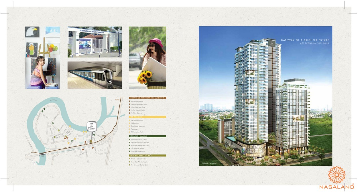 Tổng thể dự án căn hộ Gateway Thảo Điền Quận 2 Chủ đầu tư Sơn Kim Land
