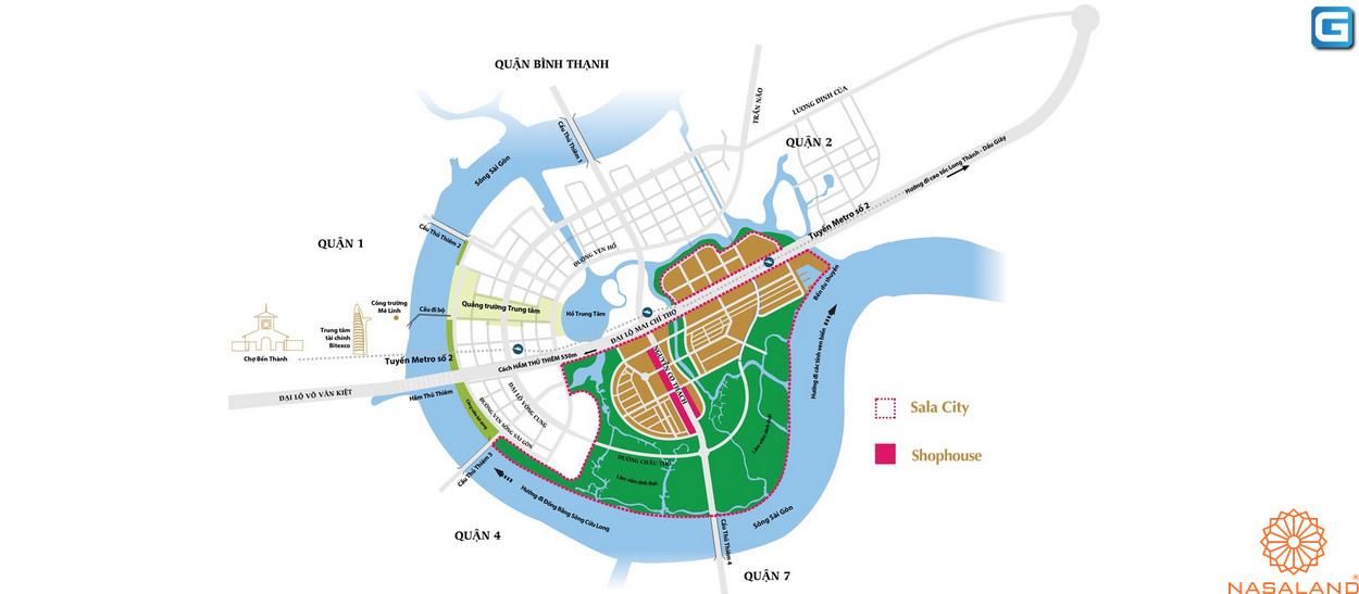 Vị trí Sari Town