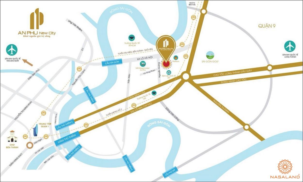 Vị trí dự án An Phú New City