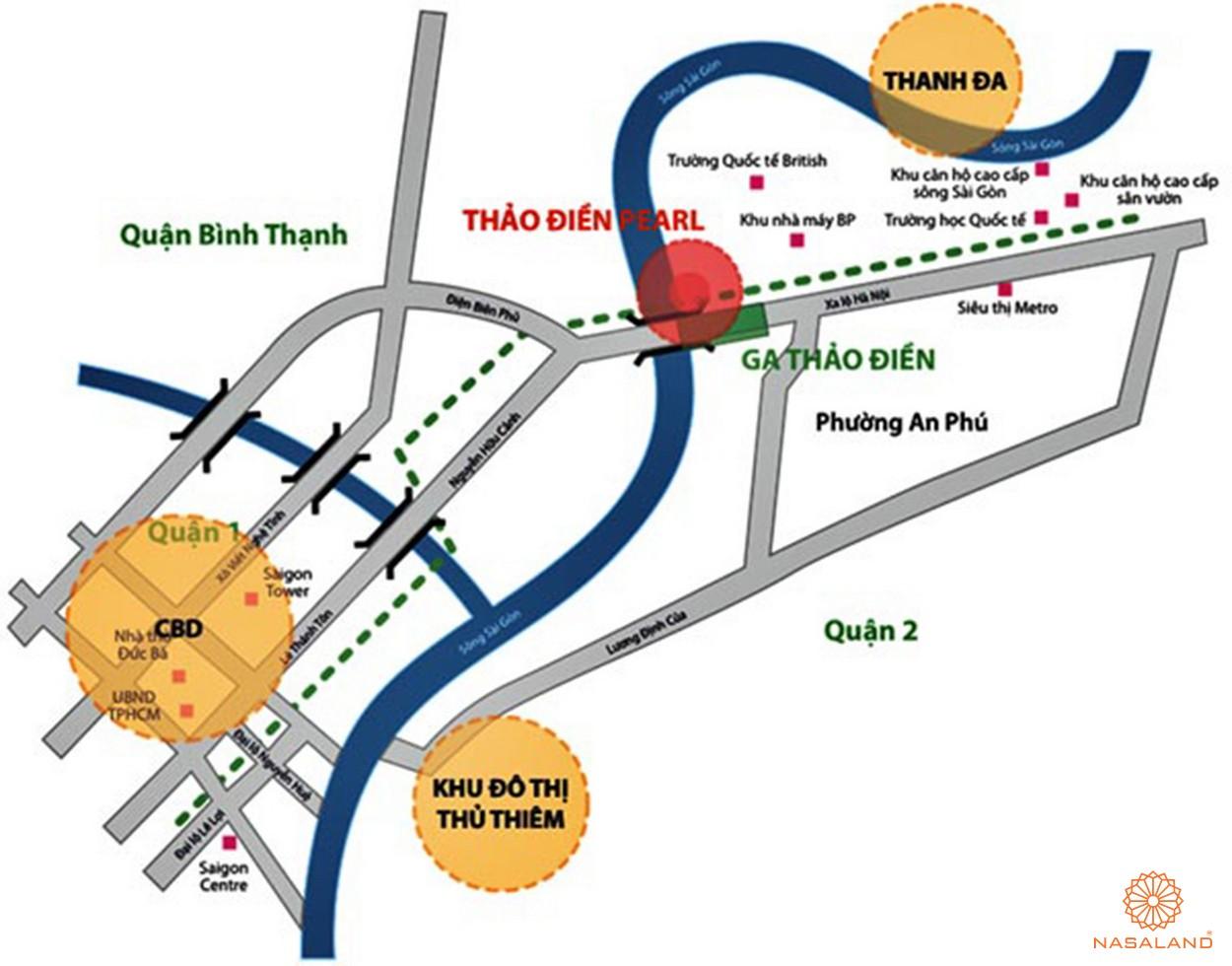 Vị trí dự án căn hộ chung cư Thảo Điền Pearl Quận 2