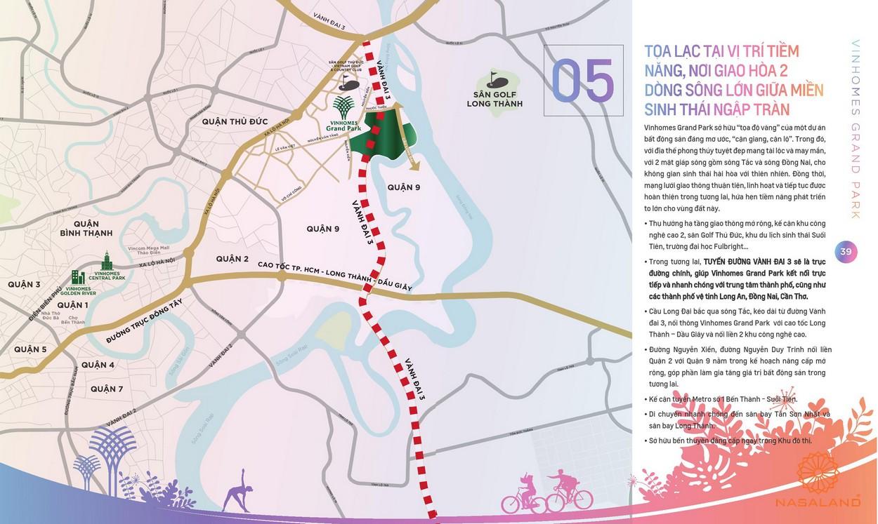 Vị trí địa chỉ dự án The Origami khu đô thị Vinhomes Grand Park Quận 9 đường Nguyễn Xiển chủ đầu tư Vingroup