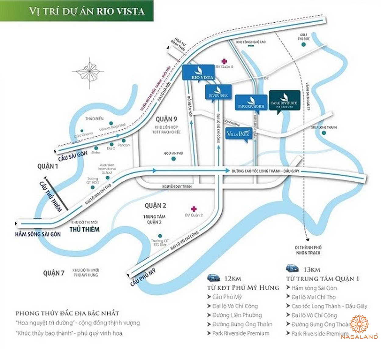 Vị trí dự án nhà phố, biệt thự Rio Vista Quận 9